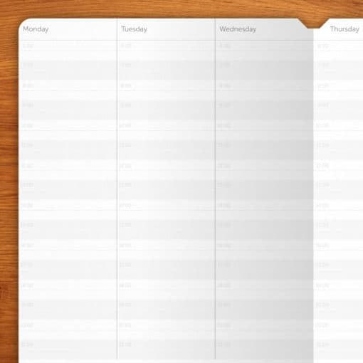 Weekly Planner without dates - 3 booklets A5 (12 months)